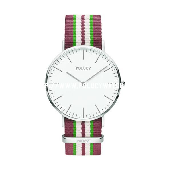 DW nylon strap Lady colorful quartz watch P6324L