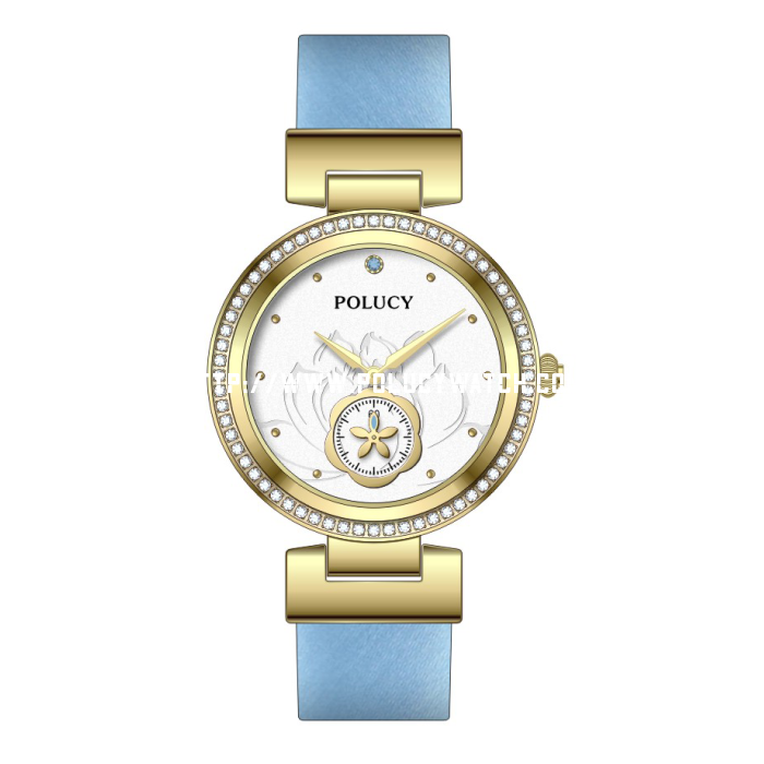 diamond lady leather watch P7640L