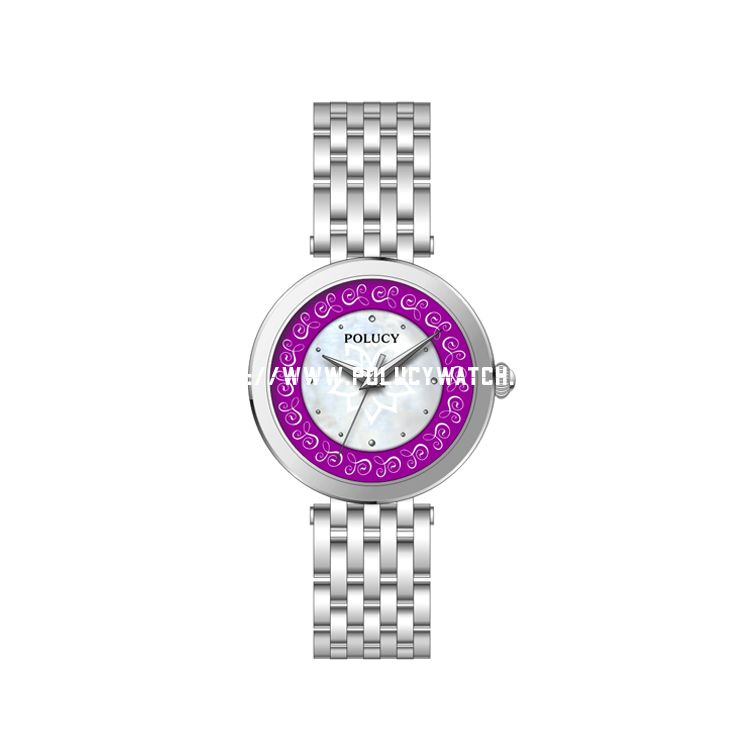 Flower steel watch P7170L