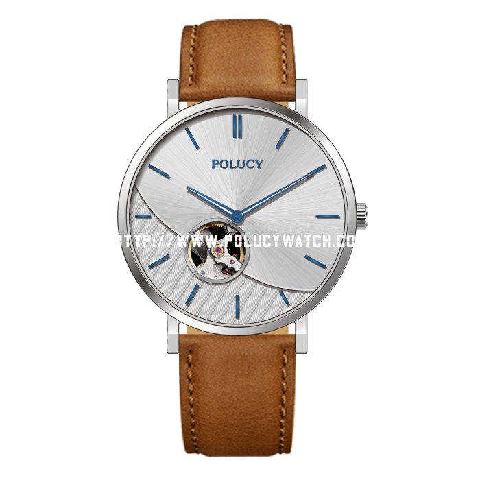 Men leather watch P9560M