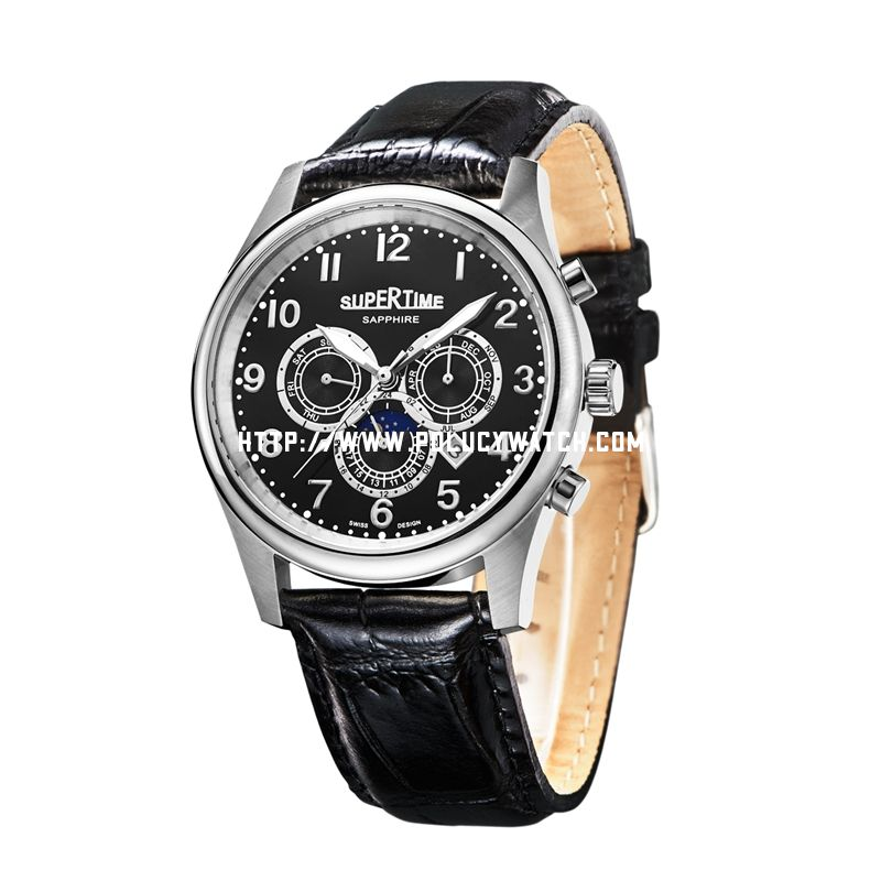 Automatic leather Watch 56008M