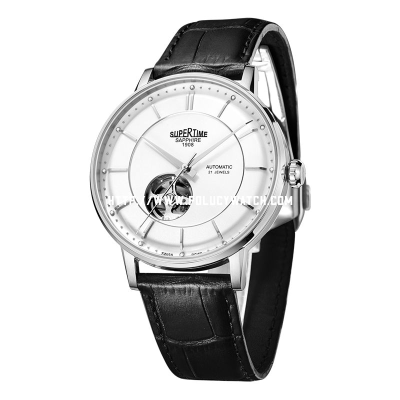Simple Fashion Skeleton watch 61101M