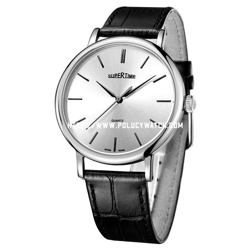 Simple leather Men watch 61042M