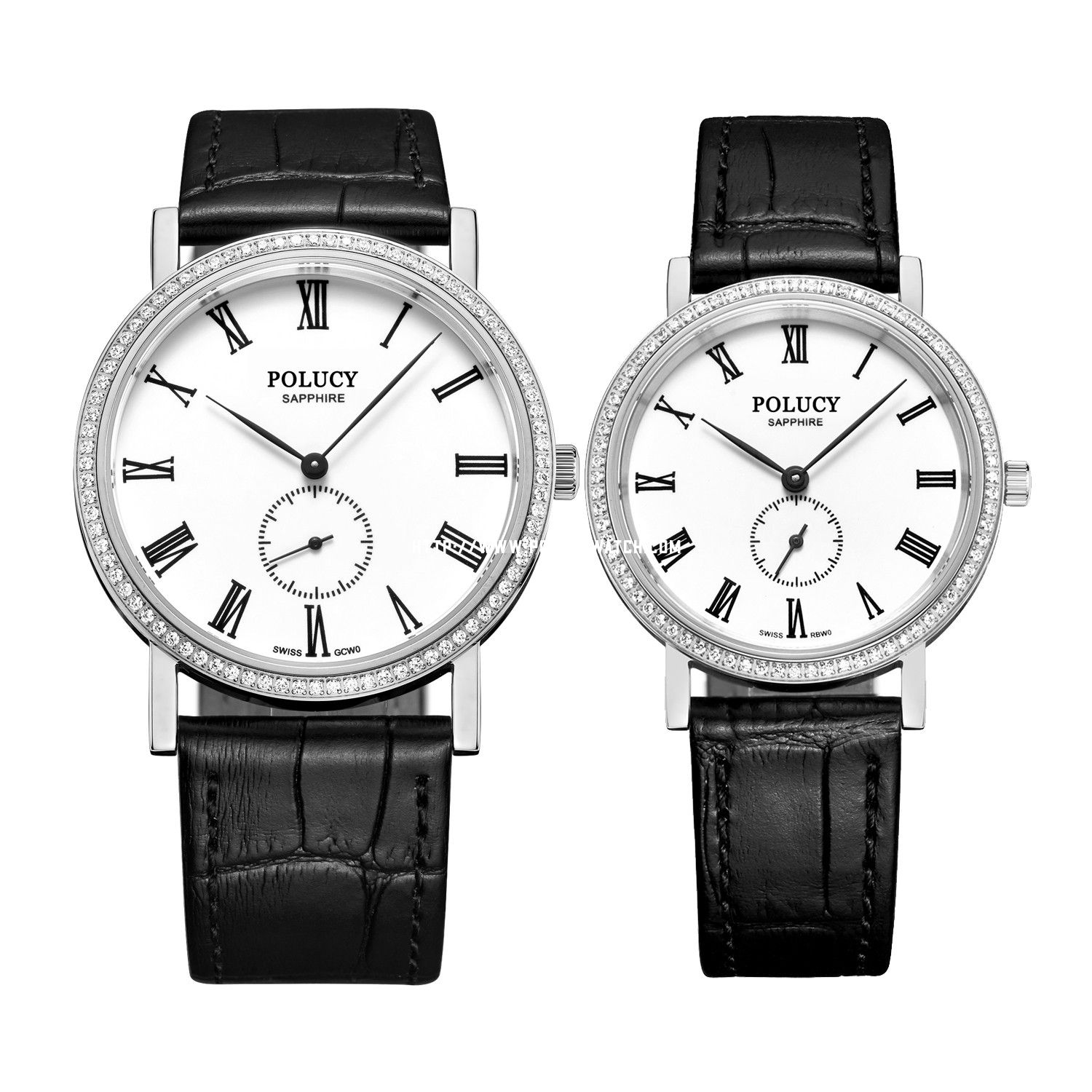 Leather Couple Watch 61022ML