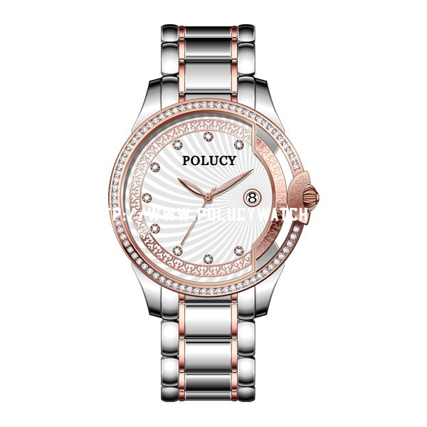 Steel Designed Rose Gold Watch P6011L